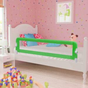 Barra de segurança para cama de criança 2 pcs 150x42 cm verde - PORTES GRÁTIS