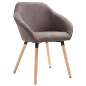 Cadeira de jantar tecido cinzento-acastanhado - PORTES GRÁTIS