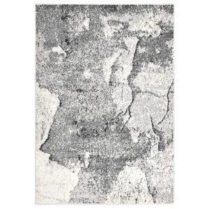 Tapete 140x200 cm PP cinzento - PORTES GRÁTIS