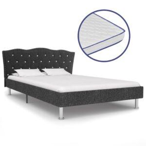 Cama c/ colchão espuma memória 120x200cm tecido cinzento-escuro  - PORTES GRÁTIS