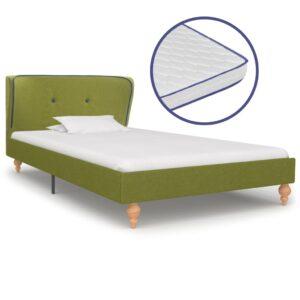 Cama c/ colchão espuma de memória 90x200cm tecido verde - PORTES GRÁTIS