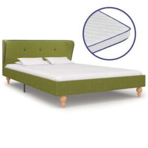 Cama c/ colchão espuma de memória 120x200cm tecido verde - PORTES GRÁTIS