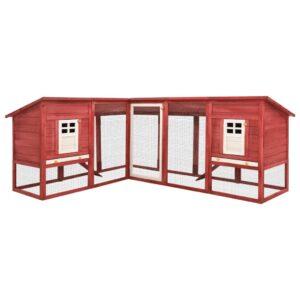 Coelheira exterior c/ parque abeto maciço vermelho e branco - PORTES GRÁTIS