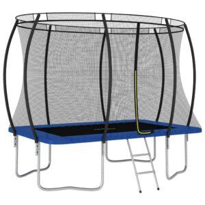 Conjunto de trampolim retangular 274x183x76 cm 150 kg - PORTES GRÁTIS