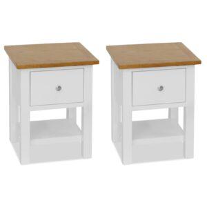 2 Mesas cabeceira 36x30x47 cm madeira de carvalho maciça - PORTES GRÁTIS