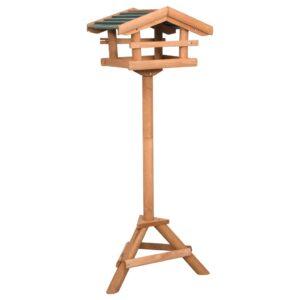 Comedouro de pássaros com suporte madeira de abeto - PORTES GRÁTIS