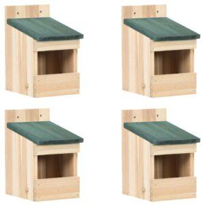 Casas para pássaros 4 pcs 12x16x20 cm madeira de abeto - PORTES GRÁTIS