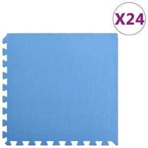 Tapetes de chão 24 pcs 8,64 ㎡ espuma de EVA azul - PORTES GRÁTIS