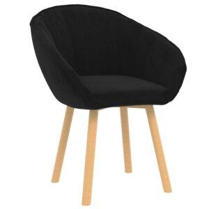 Cadeira de jantar veludo preto - PORTES GRÁTIS