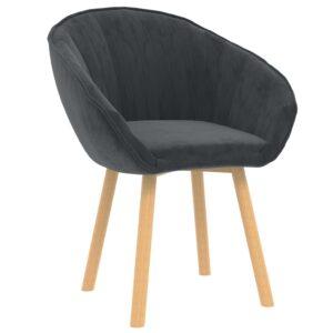Cadeira de jantar veludo cinzento-escuro - PORTES GRÁTIS