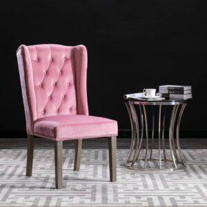 Cadeira de jantar veludo rosa - PORTES GRÁTIS