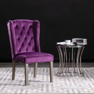 Cadeira de jantar veludo roxo - PORTES GRÁTIS
