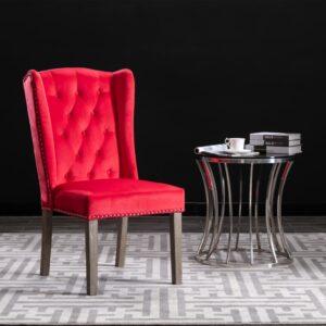 Cadeira de jantar veludo vermelho - PORTES GRÁTIS