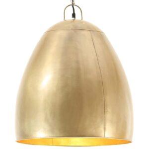 Candeeiro suspenso industrial redondo 25 W 42 cm E27 bronze - PORTES GRÁTIS