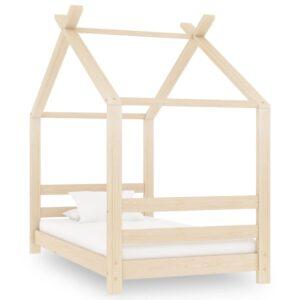 Estrutura de cama infantil 70x140 cm madeira de pinho maciça - PORTES GRÁTIS