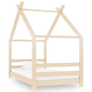 Estrutura de cama para crianças 80x160 cm pinho maciço - PORTES GRÁTIS