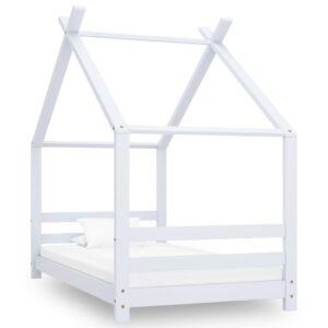 Estrutura de cama para crianças 80x160 cm pinho maciço branco - PORTES GRÁTIS