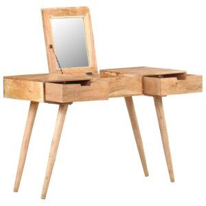 Toucador c/ espelho 112x45x76 cm madeira de acácia maciça - PORTES GRÁTIS