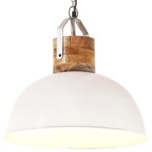 Candeeiro de teto industrial redondo 42 cm E27 mangueira branco - PORTES GRÁTIS