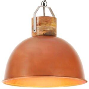 Candeeiro de teto industrial redondo 51 cm E27 mangueira cobre - PORTES GRÁTIS