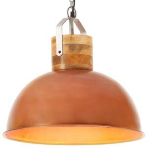 Candeeiro de teto industrial redondo 42 cm E27 mangueira cobre - PORTES GRÁTIS