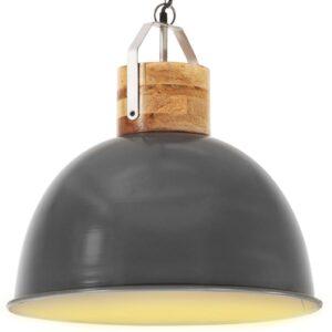 Candeeiro teto industrial redondo 51 cm E27 mangueira cinzento - PORTES GRÁTIS