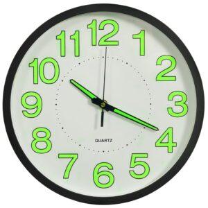 Relógio de parede luminoso 30 cm preto - PORTES GRÁTIS