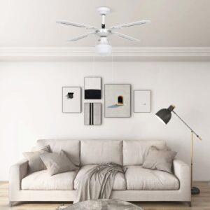 Ventoinha de teto com luz 106 cm branco - PORTES GRÁTIS