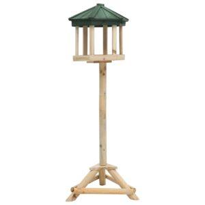 Comedouro de pé p/ pássaros 33x106 cm madeira de abeto maciça - PORTES GRÁTIS