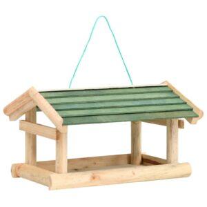 Comedouro de pássaros 35x29,5x21 cm madeira maciça - PORTES GRÁTIS