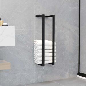 Toalheiro 12,5x12,5x60 cm ferro preto - PORTES GRÁTIS