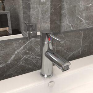 Torneira para lavatório de casa de banho 130x176 mm níquel - PORTES GRÁTIS
