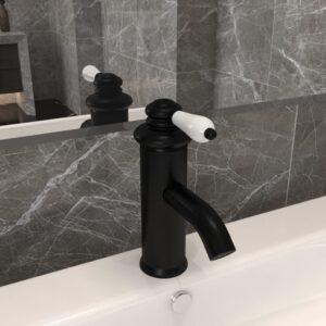 Torneira para lavatório de casa de banho 130x180 mm preto - PORTES GRÁTIS