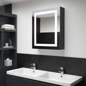 Armário espelhado para casa de banho com LED 50x13x70 cm - PORTES GRÁTIS
