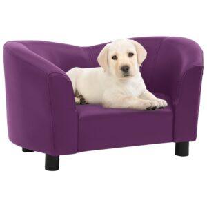 Sofá para cães 67x41x39 cm couro artificial bordô - PORTES GRÁTIS