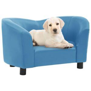 Sofá para cães 67x41x39 cm couro artificial turquesa - PORTES GRÁTIS