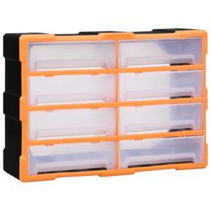 Caixa organizadora com 8 gavetas grandes 52x16x37 cm - PORTES GRÁTIS