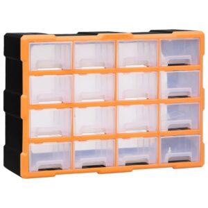 Caixa organizadora com 16 gavetas médias 52x16x37 cm - PORTES GRÁTIS