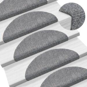 Tapetes de escada autoadesivos 5 pcs 54x16x4 cm cinzento-claro - PORTES GRÁTIS