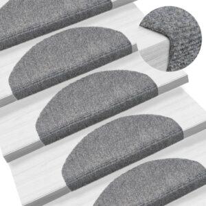 Tapetes de escada autoadesivos 5 pcs 65x21x4 cm cinzento-claro - PORTES GRÁTIS