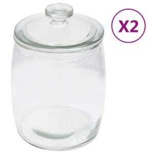 2 Frascos de vidro com tampas  2000 ml - PORTES GRÁTIS