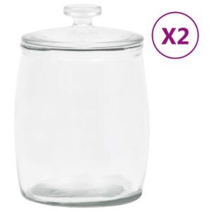 2 Frascos de vidro com tampas 8000 ml - PORTES GRÁTIS