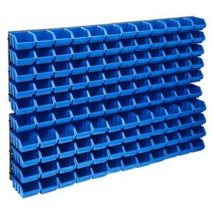 128 pcs Kit caixas arrumação com painéis de parede azul e preto - PORTES GRÁTIS