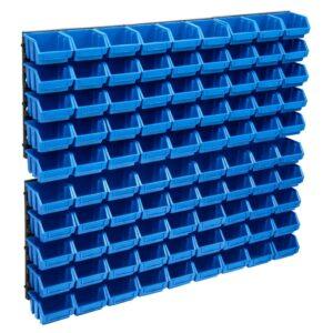 96 pcs Kit caixas arrumação com painéis parede azul e preto - PORTES GRÁTIS