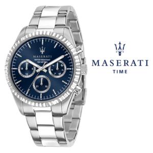 Relógio Maserati® Competizione Silver Blue | R8853100022 STF