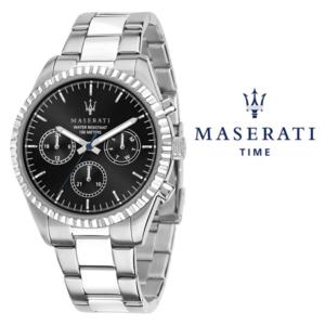 Relógio Maserati® Competizione Silver Black | R8853100023 STF