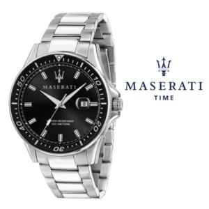 Relógio Maserati® Sfida Silver Black | R8853140002 STF