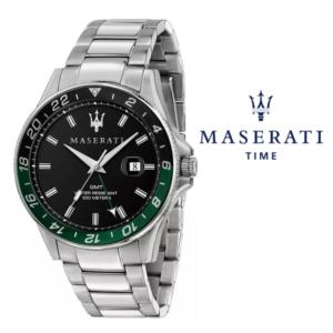 Relógio Maserati® Sfida Silver Black Green | R8853140005 STF