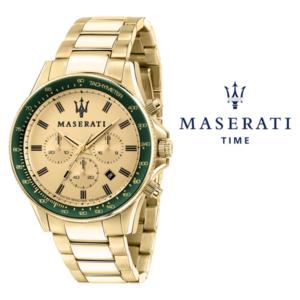 Relógio Maserati® Sfida Gold Green | R8873640005 STF