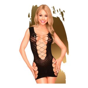Babydoll Flame On The Rock Penthouse Preto S/L